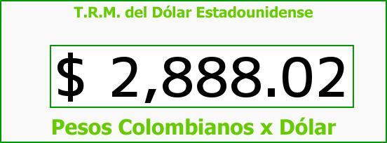 T.R.M. del Dólar para hoy Jueves 30 de Marzo de 2017