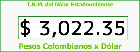T.R.M. del Dólar para hoy Jueves 31 de Marzo de 2016