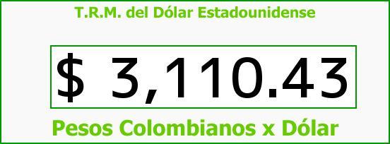 T.R.M. del Dólar para hoy Jueves 4 de Agosto de 2016