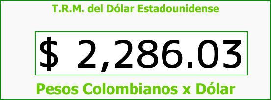 T.R.M. del Dólar para hoy Jueves 4 de Diciembre de 2014