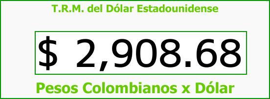 T.R.M. del Dólar para hoy Jueves 4 de Enero de 2018