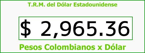 T.R.M. del Dólar para hoy Jueves 5 de Enero de 2017