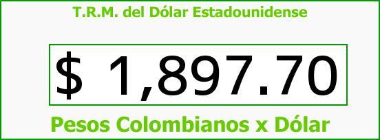 T.R.M. del Dólar para hoy Jueves 5 de Junio de 2014