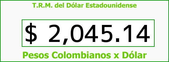 T.R.M. del Dólar para hoy Jueves 6 de Marzo de 2014