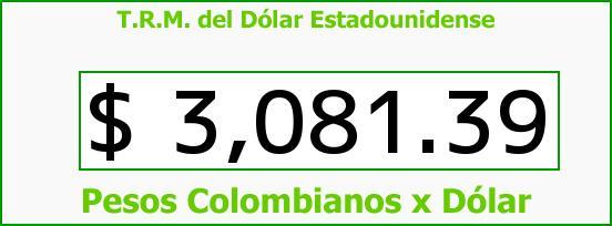 T.R.M. del Dólar para hoy Jueves 7 de Abril de 2016
