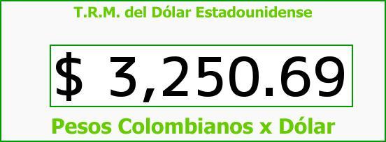 T.R.M. del Dólar para hoy Jueves 7 de Enero de 2016
