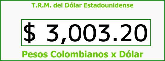 T.R.M. del Dólar para hoy Jueves 7 de Julio de 2016