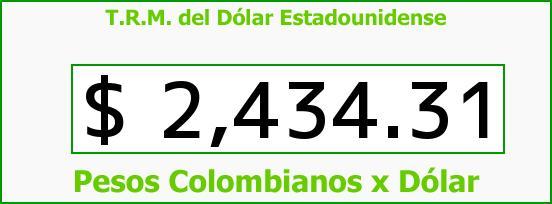 T.R.M. del Dólar para hoy Jueves 8 de Enero de 2015