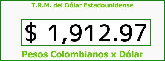 T.R.M. del Dólar para hoy Jueves 8 de Mayo de 2014