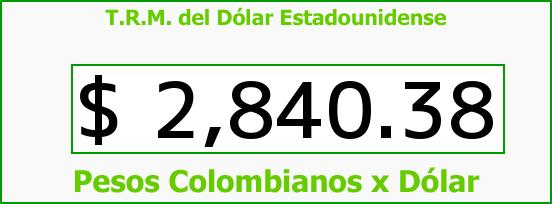 T.R.M. del Dólar para hoy Jueves 8 de Septiembre de 2016