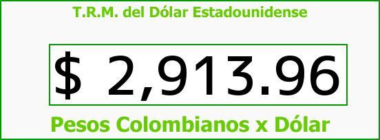 T.R.M. del Dólar para hoy Lunes 10 de Octubre de 2016
