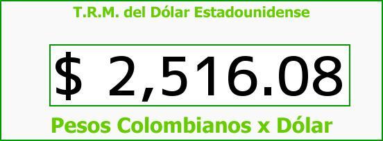 T.R.M. del Dólar para hoy Lunes 13 de Abril de 2015