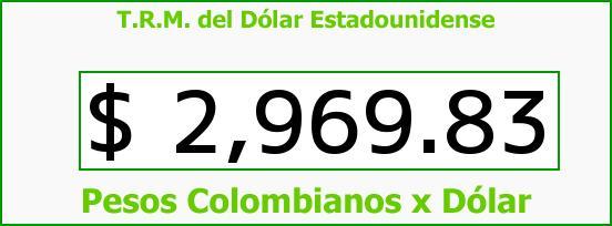 T.R.M. del Dólar para hoy Lunes 13 de Junio de 2016