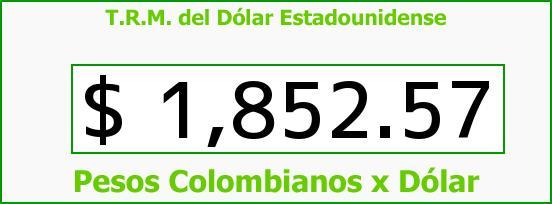 T.R.M. del Dólar para hoy Lunes 14 de Julio de 2014