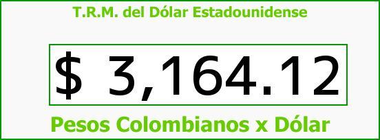 T.R.M. del Dólar para hoy Lunes 14 de Marzo de 2016