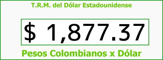 T.R.M. del Dólar para hoy Lunes 16 de Junio de 2014