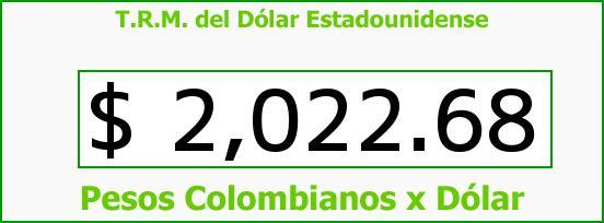 T.R.M. del Dólar para hoy Lunes 17 de Febrero de 2014