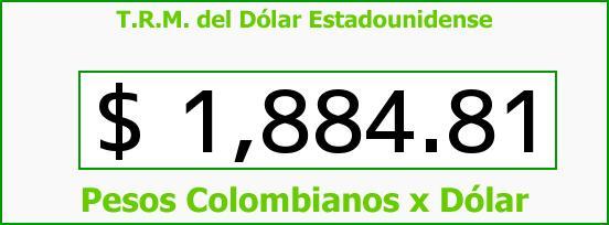 T.R.M. del Dólar para hoy Lunes 18 de Agosto de 2014