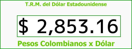 T.R.M. del Dólar para hoy Lunes 19 de Febrero de 2018