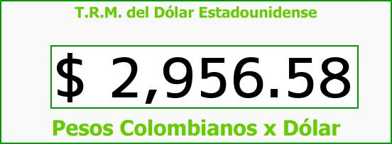 T.R.M. del Dólar para hoy Lunes 19 de Septiembre de 2016