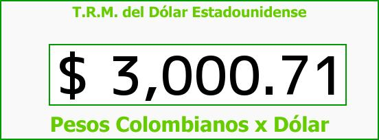 T.R.M. del Dólar para hoy Lunes 2 de Enero de 2017