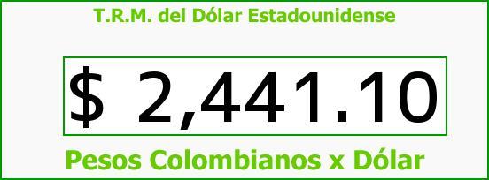 T.R.M. del Dólar para hoy Lunes 2 de Febrero de 2015
