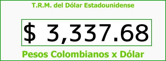 T.R.M. del Dólar para hoy Lunes 21 de Diciembre de 2015