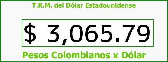 T.R.M. del Dólar para hoy Lunes 21 de Marzo de 2016