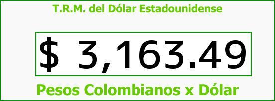 T.R.M. del Dólar para hoy Lunes 21 de Noviembre de 2016