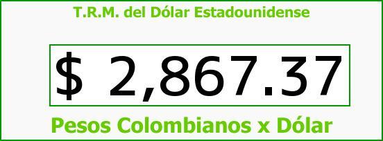 T.R.M. del Dólar para hoy Lunes 22 de Agosto de 2016