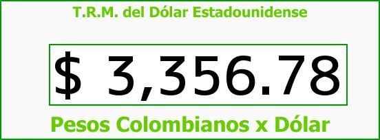 T.R.M. del Dólar para hoy Lunes 22 de Febrero de 2016