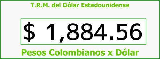 T.R.M. del Dólar para hoy Lunes 23 de Junio de 2014