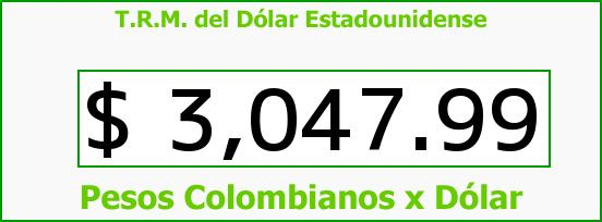 T.R.M. del Dólar para hoy Lunes 23 de Mayo de 2016