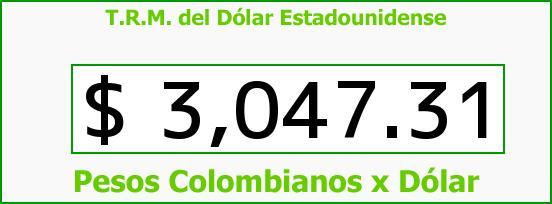 T.R.M. del Dólar para hoy Lunes 23 de Noviembre de 2015