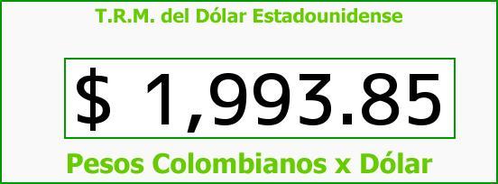 T.R.M. del Dólar para hoy Lunes 24 de Marzo de 2014