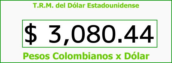 T.R.M. del Dólar para hoy Lunes 28 de Septiembre de 2015