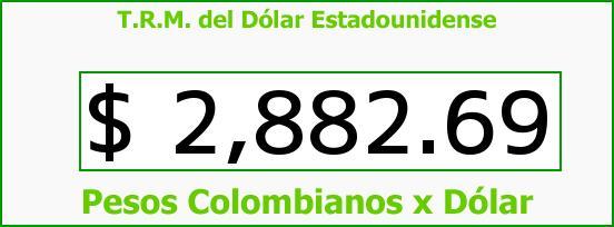 T.R.M. del Dólar para hoy Lunes 29 de Agosto de 2016