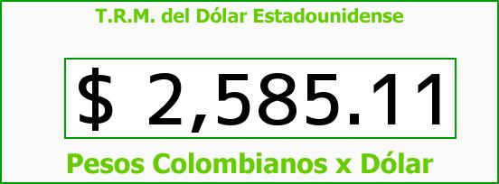 T.R.M. del Dólar para hoy Lunes 29 de Junio de 2015