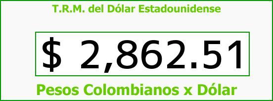 T.R.M. del Dólar para hoy Lunes 3 de Agosto de 2015