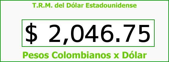 T.R.M. del Dólar para hoy Lunes 3 de Marzo de 2014