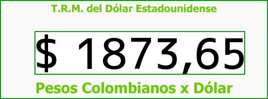 T.R.M. del Dólar para hoy Lunes 4 de Agosto de 2014