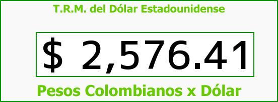 T.R.M. del Dólar para hoy Lunes 6 de Abril de 2015