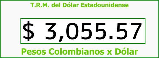 T.R.M. del Dólar para hoy Lunes 6 de Noviembre de 2017