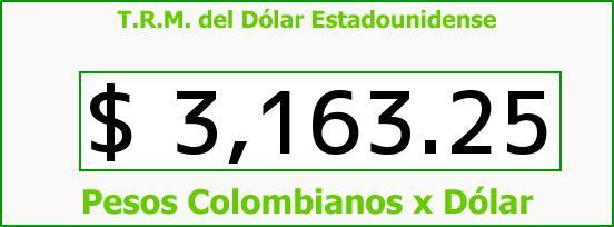 T.R.M. del Dólar para hoy Lunes 7 de Marzo de 2016