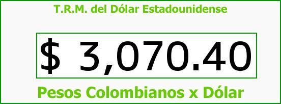 T.R.M. del Dólar para hoy Lunes 7 de Noviembre de 2016