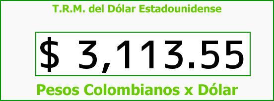 T.R.M. del Dólar para hoy Lunes 7 de Septiembre de 2015