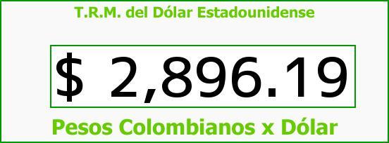 T.R.M. del Dólar para hoy Lunes 9 de Noviembre de 2015