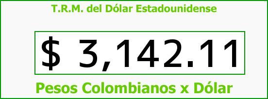 T.R.M. del Dólar para hoy Martes 1 de Diciembre de 2015