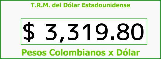 T.R.M. del Dólar para hoy Martes 1 de Marzo de 2016