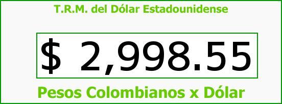 T.R.M. del Dólar para hoy Martes 1 de Noviembre de 2016
